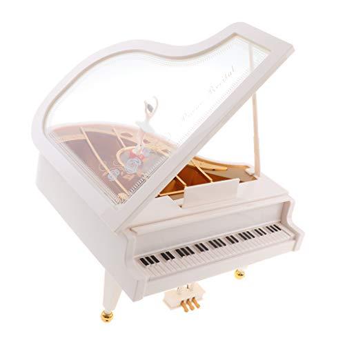 Almencla Caja de Música con Pilas Forma de Piano Decoración de para El Hogar Juguetes para Niñas