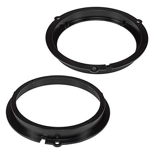 tomzz Audio 2815-010 Lautsprecherringe Adapter Halterungen passend für Ford Fiesta KA Focus Mondeo Kuga Fronttür und Tür hinten für 165mm DIN Lautsprecher