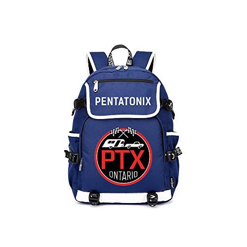 PTX Mochila Casual Bolso Caliente del Estudiante de la Mochila de la Venta de la Moda Especial clásica Nuevo Unisex (Color : Blue05, Size : 37 X 16 X 45cm)