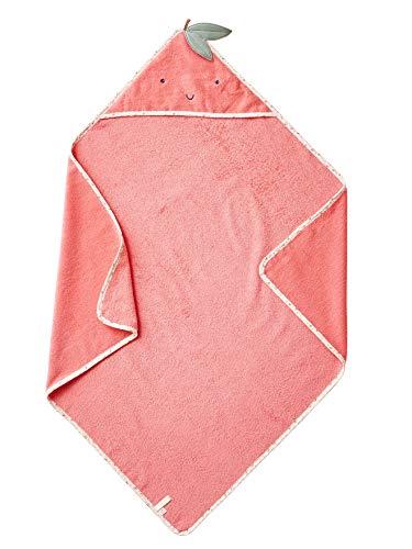 VERTBAUDET Capa de baño para bebé Pommes d'amour Rosa Medio Liso con Motivos 100X100