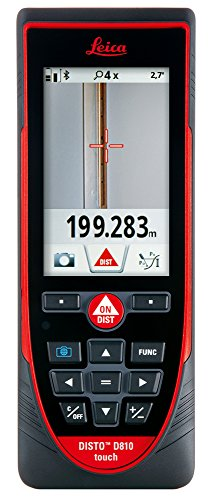 Leica Disto D810 Touch 820' laser Distance Measurer w/Bluetooth-Picture Measure