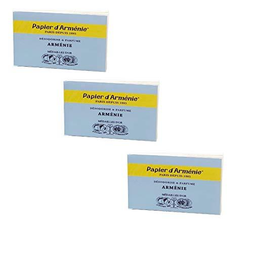 Papier d'Arménie TRADITION • Lot de 3 Carnets Triples de 36 lamelles • Papier d'Arménie ORIGINAL • Désodorisant Naturel • Parfum d'intérieur • Désodorisant