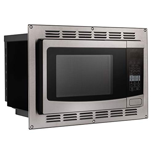 RecPro RV Convection Microwave Stainless Steel 1.1 cu. ft. | 120V | Microwave | Appliances | Direct Replacement for High Pointe