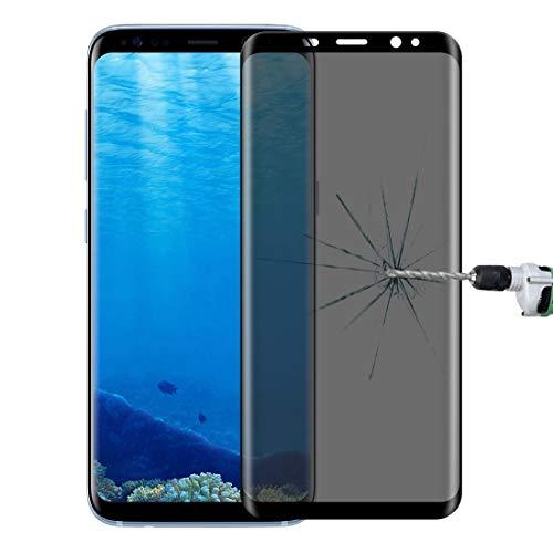 LYYCEU for Galaxy S8 + / G9550 0.3mm 9H Oberflächenhärte 3D gekrümmt Datenschutz Anti-Blendung Silk-Screen-Vollbild-Temperierglas-Display-Beschützer (schwarz) Telefon gehärteter Film (Color : Black)