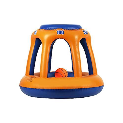 VENTDOUCE Schwimmbad-Basketballspielzeug, Tropische hawaiianische Sommer-Pool-Strandparty begünstigt Riesen-Floating-Hoop-Spielset Schwimm-Shootball-Basketball-Schwimmbadspielspielzeug mit 1 Bällen