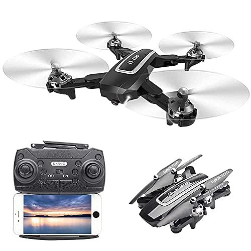GZTYLQQ Drone con Fotocamera Drone Pieghevole con Fotocamera per Adulti 4K HD FPV Live Video, Controllo dei gesti, Selfie, Mantenimento dell'altitudine, modalità Senza Testa, Flip 3D, quadricottero