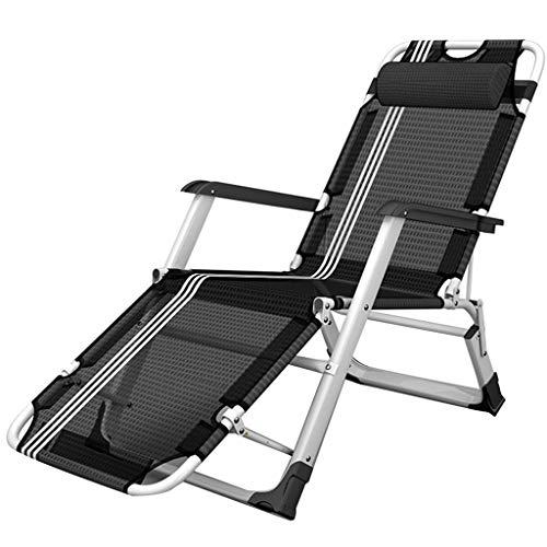 Stühle Deckchairs Sonnenliege Liegestuhl Strandkorb Home-Rückenlehnenstuhl Büro-Einzel-Siesta Tragbares Feldbett Tragbar Für 200 Kg (Color : A, Size : 52 * 178cm)