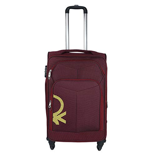 United Colors of Benetton Polyester 68 cms Maroon Softsided Check-in Luggage (0IP6SPO24T01I)