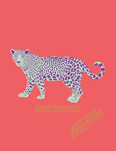 Notebook with a purple cheetah: Graph Paper Notebook A4, 120 pages