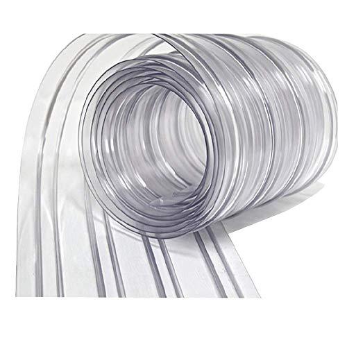 WALK-IN FREEZERS COOLERS 및 WAREHOUSE DOORS를 위한 RESILIA 비닐 대체 스트립 커튼 - 산업용 등급 플라스틱 커튼 단일 스트립 12인치 X 8피트 클리어