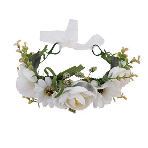 Lurrose 1 Unid Diadema de Novia Corona de Flores Ajustable Aro de...