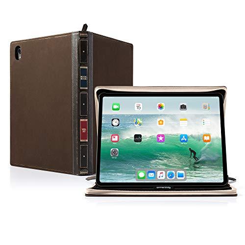 Twelve South BookBook Vol 2 para iPad Pro de 11 polegadas (geração 1) | Capa de couro dura e cavalete com armazenamento de lápis/documento/teclado para iPad Pro + Apple Pencil