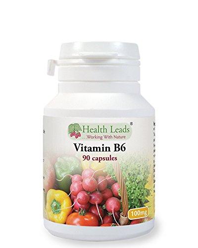 Vitamin B6 (Pyridoxine) 100mg x 90 Capsules - Magnesium Stearate Free!