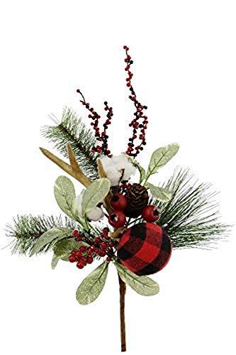 Renaissance 2000 Weihnachtskranz, 61 cm, Rot/Grün