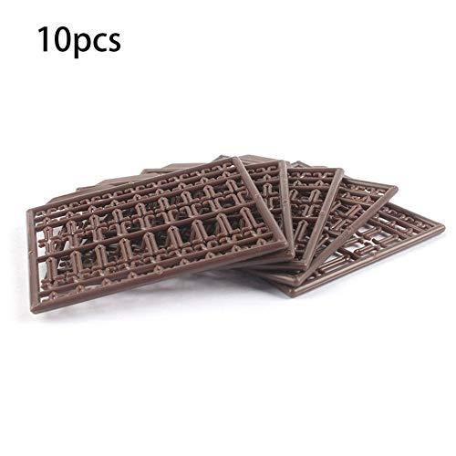 Feketeuki 10 Unids/Lote Carp Carpa Equipo de Aparejos para el Cabello Boilie Bait Dumbell Stops Boilie Stopper Extensor de Cabello útiles para Carpetas - Marrón