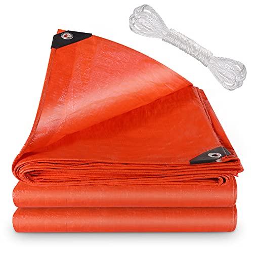 Anpro abdeckplane wasserdicht, LKW-Plane, 2 x 3 m + 8 m langes Seil, verwendet für Gartenmöbel, Grill, Schwimmbad, Trampolin, wasserdicht und reißfest