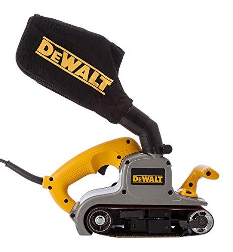 Dewalt DWP352VS-QS DWP352VS-QS-Lijadora de Banda 1.010W-75x533mm-Electrónica, 1010 W, 230 V, Amarillo
