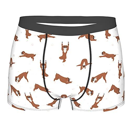 Ejercicios de yoga boxeador perro ropa interior sexy boxeador calzoncillos calzoncillos calzoncillos grandes negro