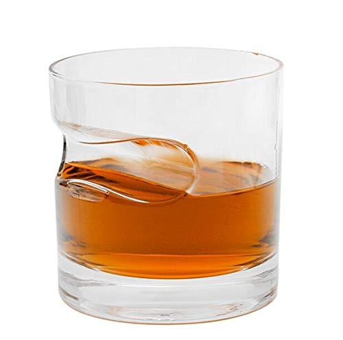 Juego de vasos de cristal para whisky con diseño de copa de vino, diseño creativo