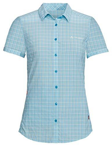 VAUDE Damen Bluse Women's Seiland Shirt II, crystal blue, 44, 413159800440