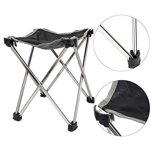 Multifunktionshocker Campingstuhl mit fußablage Tragbar Leicht Faltbar Camping Stuhl bis Vier-Ecken-Campinghocker für Backpacking Wandern Picknick Fische 10,63x9,84 x9,84 Zoll