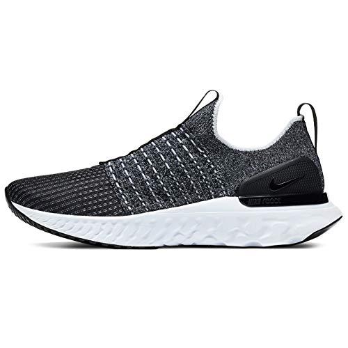 Nike React Phantom Run Fk 2 Running Shoe Mens Cj0277-003 Size 7 Black/White