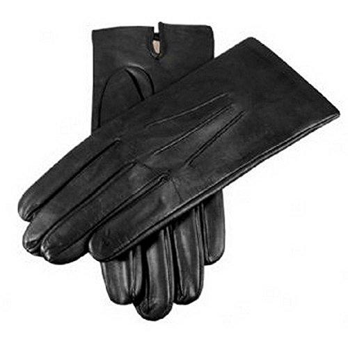Dents Black Silk plaine bordée gants en cuir 7