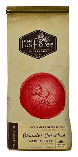 Grandes Cosechas, Gourmet Coffee, Ground Medium Roast, 32 oz (2 pound) 100% Arabica - Nicaragua's Finest Coffee