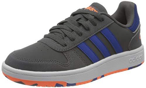 adidas Hoops 2.0 K Basketball Shoe, Gricin Azurea Narsen, 40 EU