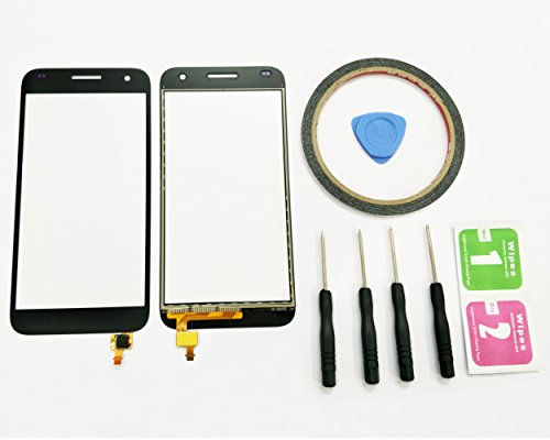 JRLinco Huawei Ascend G7 Pantalla Táctil de Cristal,Touch Screen Digitizer Outer Glass Replacement (Sin LCD Display, no Compre Mal) para Huawei Ascend G7 Negro + Herramientas y Adhesivo