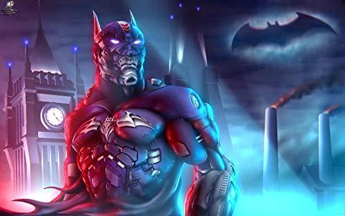 FHGGR Fondos De Batman Puzzles 1000 Piezas para Adultos Desafía Rompecabezas Regalo Gran Divertido Juego Educativo Intelectual para Niños Adolescentes 75*50cm