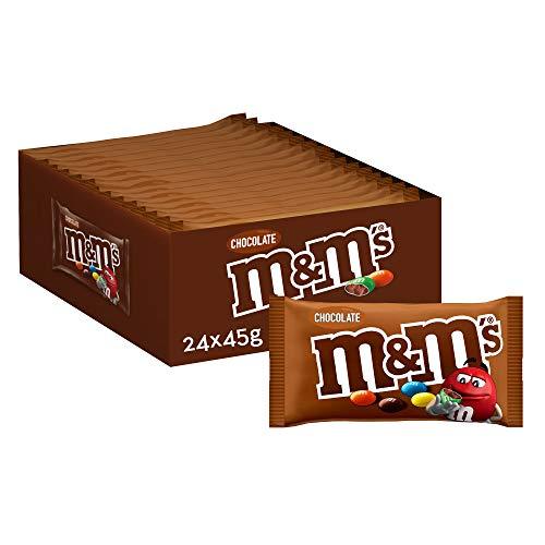M&M's Choco Snack en Bolitas de Colores de Chocolate con Leche (24 bolsitas x 45g)