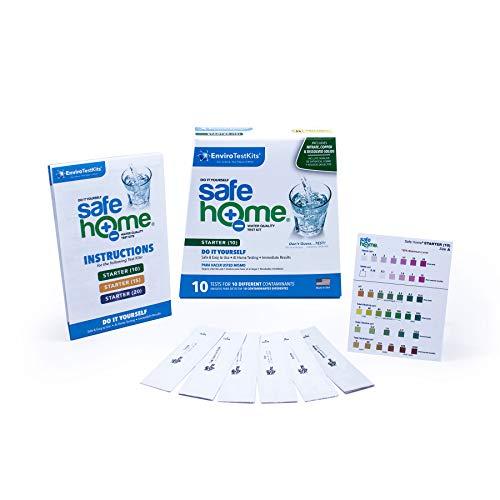Safe Home Starter-10 Wasserqualitätstest-Set – DIY Testen für 10 verschiedene Verschmutzungen