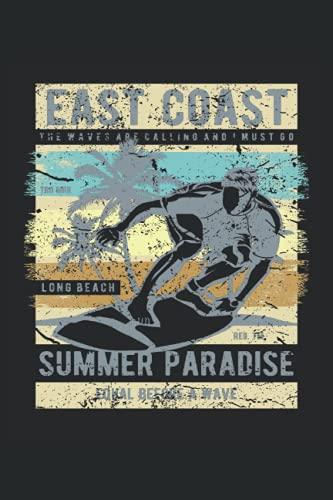 East Coast: Surfer Gift Notebook   Aloha Hawaii Lover Journal   Beach Surfing Gift Notebook
