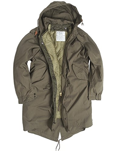 US Army Olive Drab M51Fishtail Winter Shell Kapuzen Parka Jacke mit rutschsicher, Grn, XXS