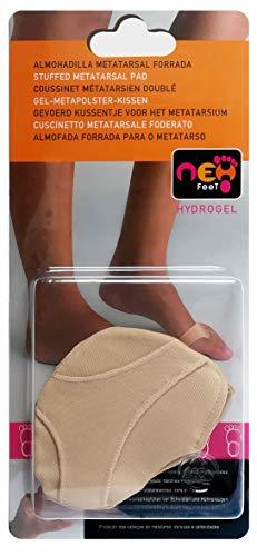 Neh Feet TI21058.10 - Almohadilla Metatarsal Forrada con Gel; talla Unica Nude