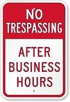 ユニークな壁の装飾、営業時間後の立ち入り禁止A、錫の壁サインレトロな鉄の絵画ヴィンテージメタルポスター警告プラークアート装飾バーカフェストアホームガレージ