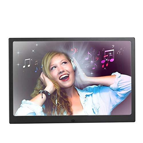 XXT-Bilderrahmen Digitaler Rahmen aus Metall 12/13/1517 Zoll digitaler Bilderrahmen HD-Werbemaschine elektronischer Album-Player (Color : Black, Size : 15 inches)
