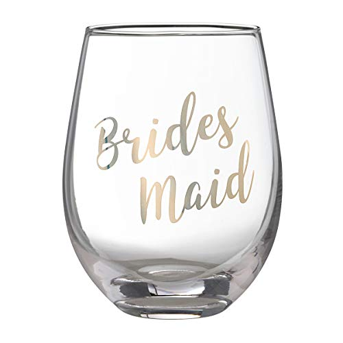 Lillian Rose G115 BM Gold Bridesmaid Stemless Wine Glass, Height 4.75 inches