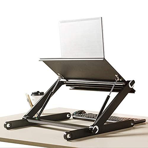 YWYW Soporte para computadora portátil de Aluminio Estación de Trabajo de Escritorio Altura de elevación Ajustable Escritorio de computadora Mejora de Pantalla de computadora Ensamblaje de Pantal