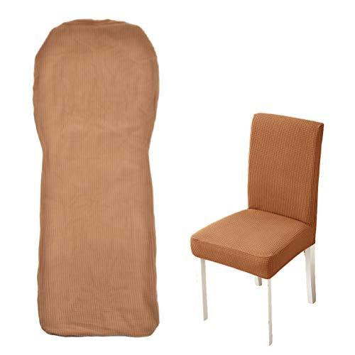 2 Stück Stuhlüberzug Stretch-Hussen Stuhlhusse für Esszimmerstühl elastische Stuhlhusse, kaffeebraun