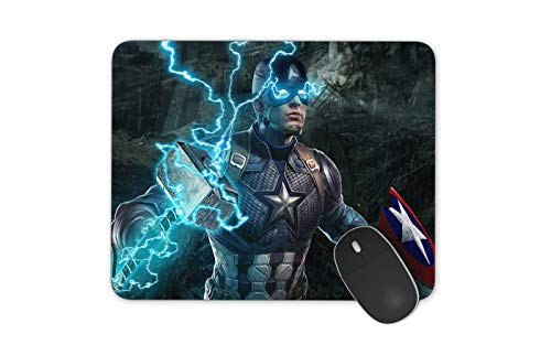JNKPOAI A Variety of Cartoon Printing Mouse Pad Marvel Series Animation Mouse Pad Anti-Slip Mouse Pad for Office Computer Game Mouse Pad Captain America Mouse Pad(Captain America)