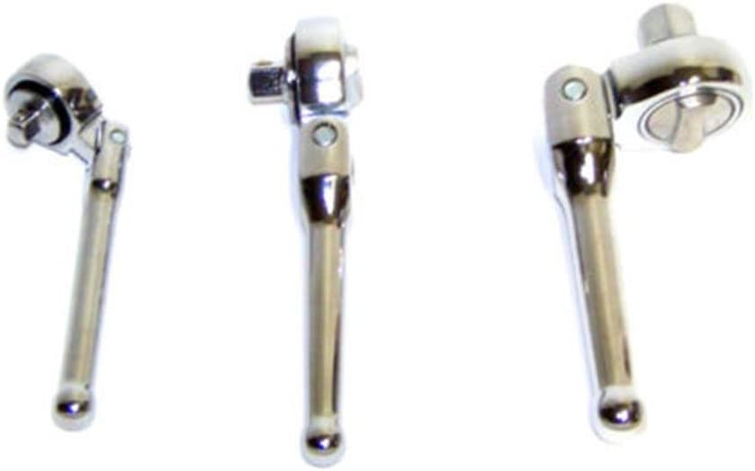 Socket Price reduction Sets 3 Finally resale start PC Flexible Handle Ratchet Stubby Sw Wrench