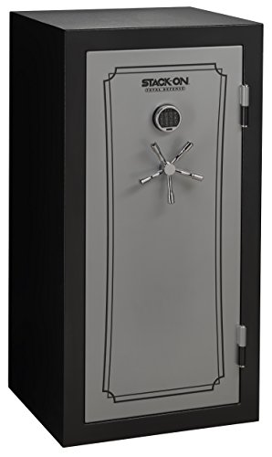 Stack-On TD-40-SB-E-S Total Defense 36-40 Gun Safe with Electronic Lock, Matte Black/Silver