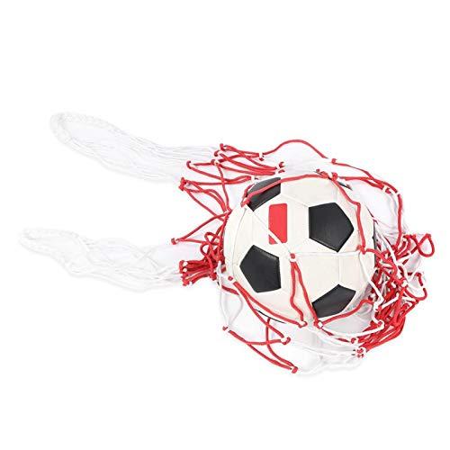 DAUERHAFT Bolsa de fútbol Resistente, Bolsa de Malla para Transporte Deportivo, Soporte para 15 Bolas de Capacidad, Cuerda Engrosada para Baloncesto, fútbol, Voleibol(Pack up)