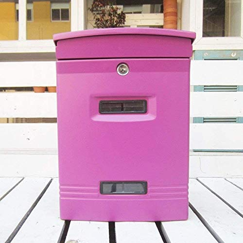 YONGYONGCHONG brievenbus in de vrije wand Villa Retro Letter Box postbox frontplaat dikke waterdichte aluminium mailbox veiligheidspostvak