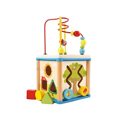 LIUCHANG Holzaktivität Cube Spielzeug - Holzform Sortierer Aktivität Cube Spielzeug, Farbkognition Fun Pädagogisches Spielzeug for Mädchen und Junge 12 Monate Plus liuchang20