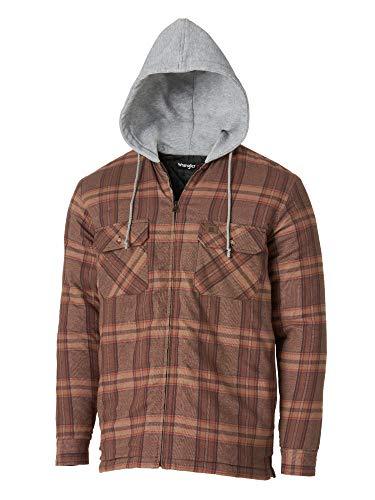 Wrangler Riggs Workwear Hooded Flannel Work Jacket Prendas de Trabajo, Caqui, 4X para Hombre