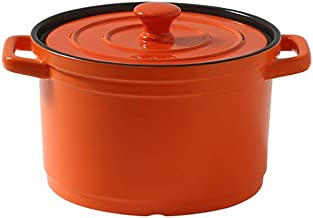 Saucepan Ceramics Kitchen Pot Induction Stockpot Small Sauce for Home Kitchen Pasta Pot Milk Pan (Color : Orange)