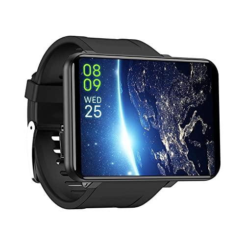 Smart Watch Pantalla táctil completa HD de 2,86 pulgadas, 3+32 GB de memoria 8MP cámaras frontales 2880 mAh batería multi deporte modo pulsera, plata (color: negro)